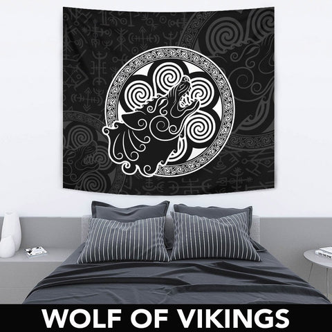 Image of 1stIceland Viking Tapestry, Tyr's Fenrir Norse Mythology A7 - 1st Iceland