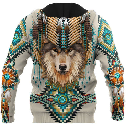 Image of 1st Iceland Native Spirit Wolf 3D Zip Hoodie TH12 - 1st Iceland