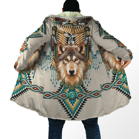 1stIceland Native Spirit Wolf 3D Hooded Cloak TH12 - 1st Iceland