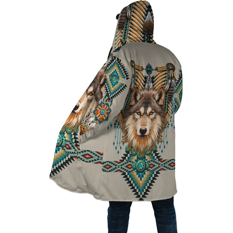 1st Iceland Native Spirit Wolf 3D Poker Hooded Cloak TH12 - 1st Iceland