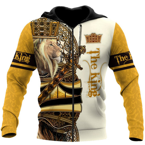1st Iceland King Lion Yellow Poker Zip Hoodie