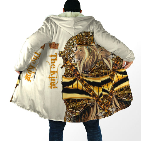 Image of 1st Iceland King Lion Yellow Poker Hooded Cloak