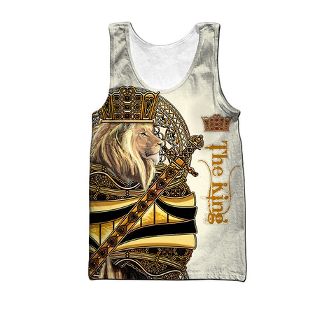 1st Iceland King Lion Yellow Poker Men's Tank Top TH12 - 1st Iceland