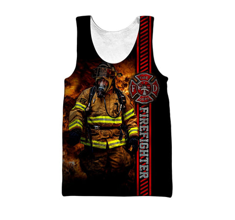 1st Iceland Brave Firefighter Hoodie Men's Tank Top TH12 - 1st Iceland
