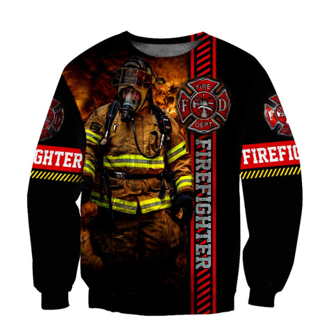 1st Iceland Brave Firefighter Hoodie Sweatshirt TH12 - 1st Iceland
