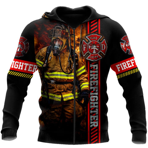 1st Iceland Brave Firefighter Hoodie Zip Hoodie TH12 - 1st Iceland
