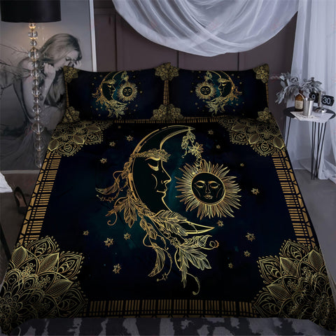 1st Iceland Sun And Moon Wicca Art Bedding Set TH12 - 1st Iceland