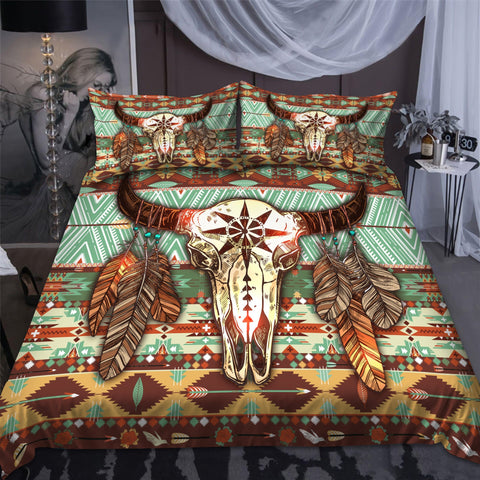 1stIceland Native American Bedding Set Buffalo Pattern TH12 - 1st Iceland