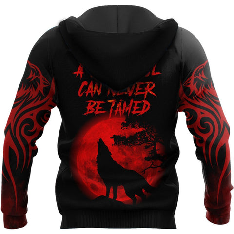 1stIceland The Red Moon Wolf 3D Printed Unisex Hoodie TH12 - 1st Iceland
