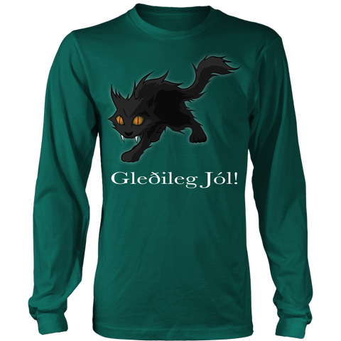Image of 1stIceland Long Sleeve T-Shirts , Yule Cat A9 - 1st Iceland