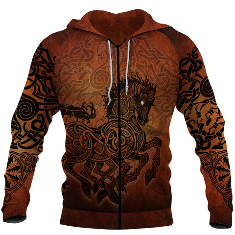 Image of 1stIceland Viking Sleipnir Zip-Hoodie