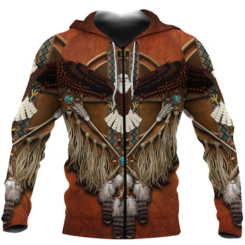 1stIceland Native American Zip-Hoodie Eagles Dreamcatcher TH4 - 1st Iceland