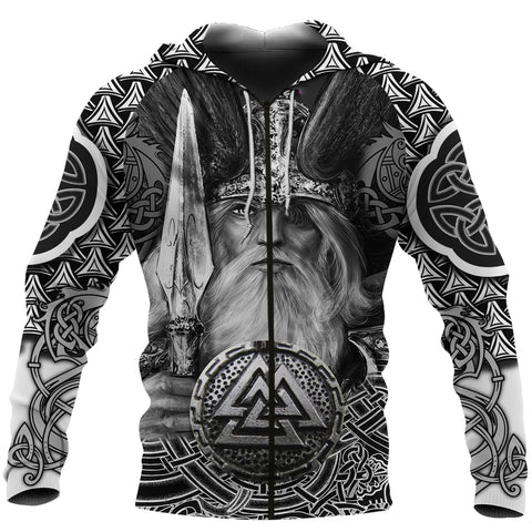 1stIceland Viking Warriors Zip-Hoodie Fenrir Celtic Tattoo TH4 - 1st Iceland