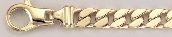 B_21123 Panzerkette Gold Panzer diagonal 7 mm 19 cm Gold 750