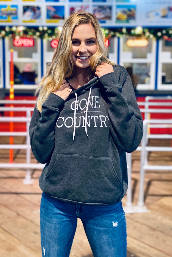 Gone Country | Women's Soft Hooded Sweatshirt