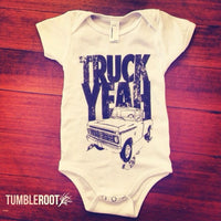 "Country baby onesie - ""Truck Yeah"" from TumbleRoot"