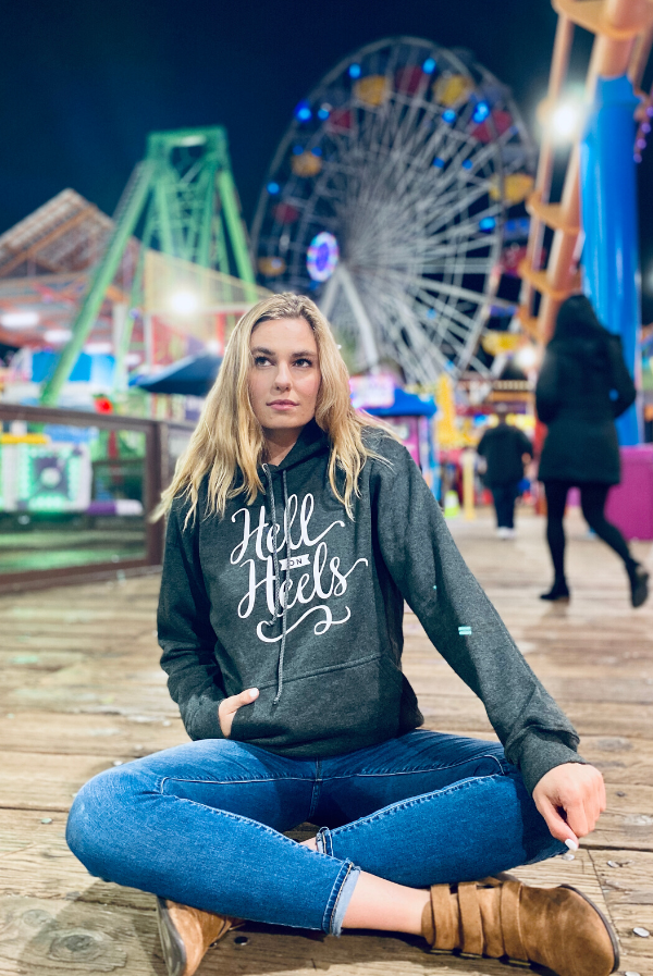 Hell on Heels | Women's Soft Hooded Sweatshirt