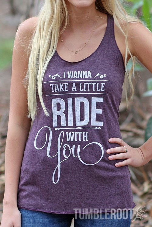 Take A Little Ride With You | Essential Racerback Tank