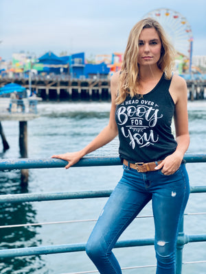 Head Over Boots for You | Essential Racerback Tank