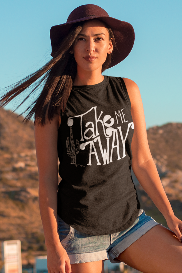 Take Me Away Cactus | Flowy Muscle Tank