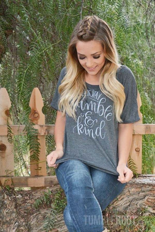 Country concert t-shirt - Always Stay Humble and Kind slouchy tee by TumbleRoot