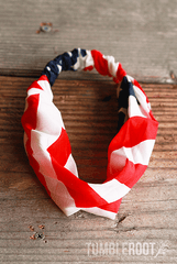 Show your 'merica pride with these adorable American flag headbands!