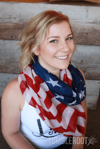 Show your 'merica pride with these adorable American flag infinity scarves!