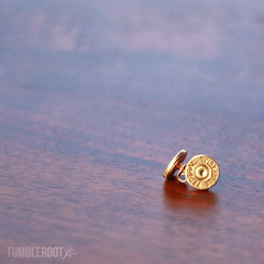 Stud earrings made from actual bullets. The perfect amount of bad-ass. Pictured: Plain Brass.