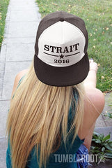 These Strait 2016 snapback hats are the best way to rock the vote! And especially perfect for country concerts and festivals like Stagecoach, CMA Fest, Country Thunder and more! Also available in Underwood 2016 and Church 2016!