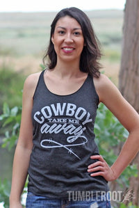 Cowboy Take Me Away | Essential Racerback Tank