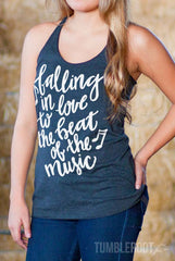Falling in Love to the Beat of the Music | Essential Racerback Tank Top