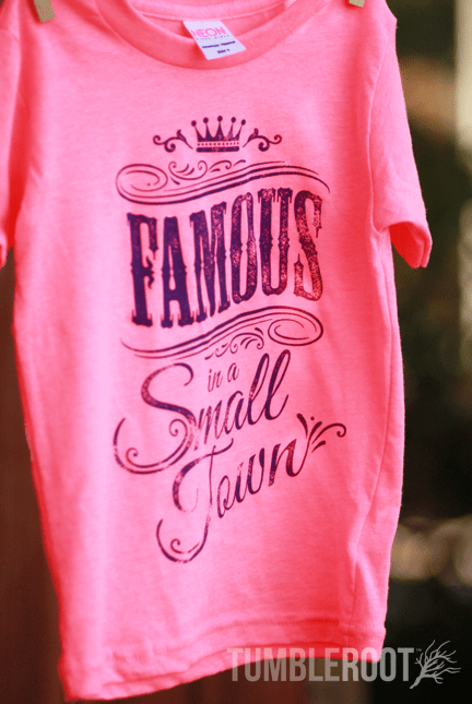 "Super adorable ""Famous in a Small Town"" Tees for your little cowgirl!"