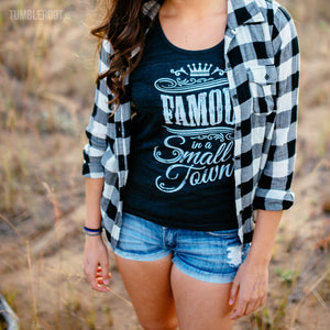 Famous In A Small Town | Women's Black Tank Top