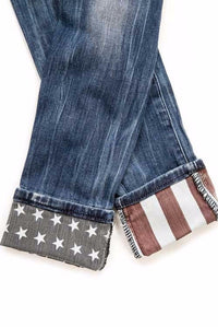 ADORABLE american flag distressed denim jeans!