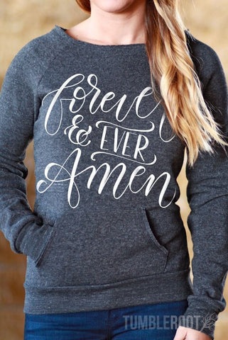 Forever and Ever Amen | Off-the-shoulder Sweatshirt