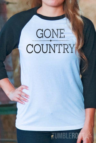 Gone Country | 3/4 Sleeve Raglan Tee