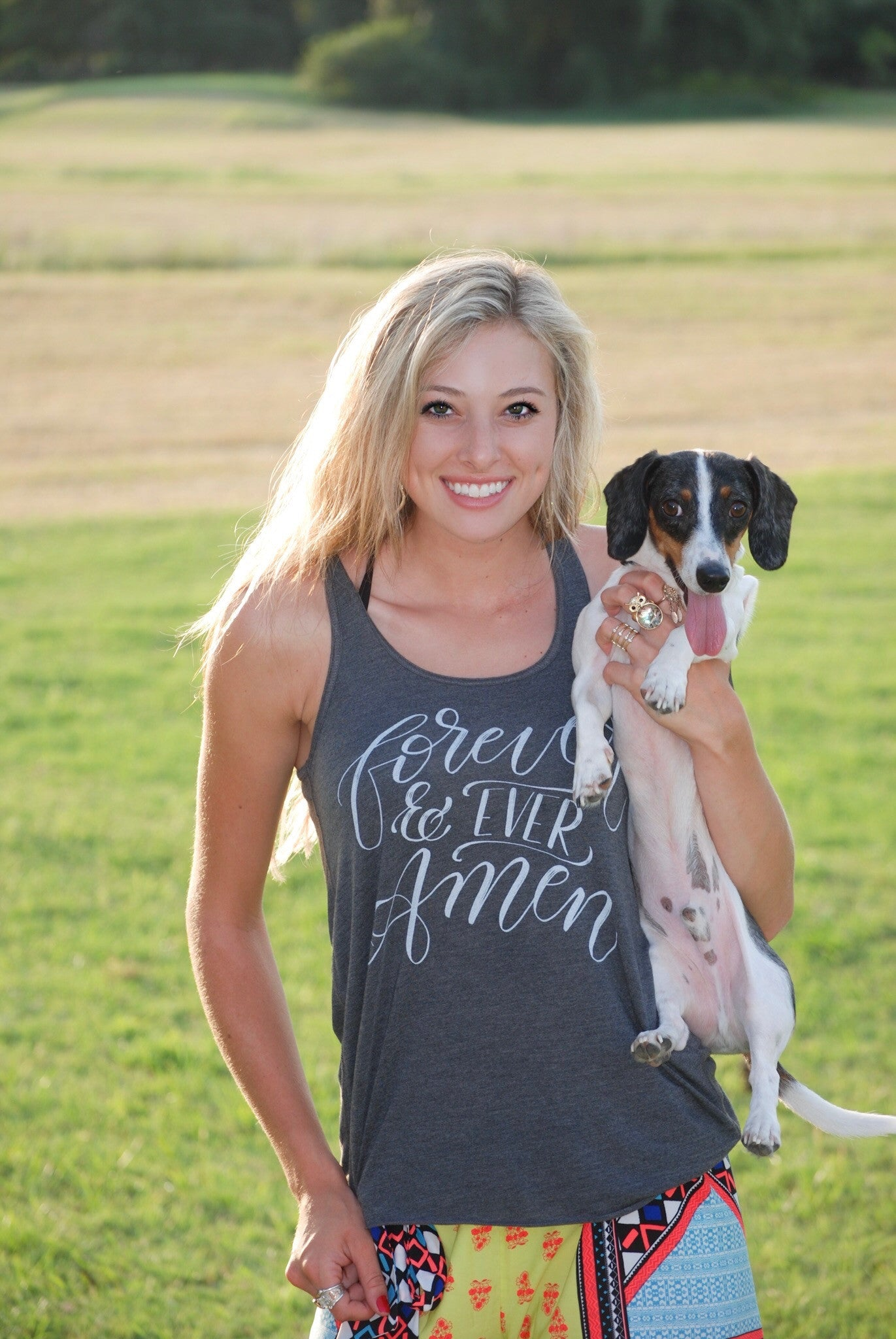 Forever and Ever Amen | Flowy Racerback Tank