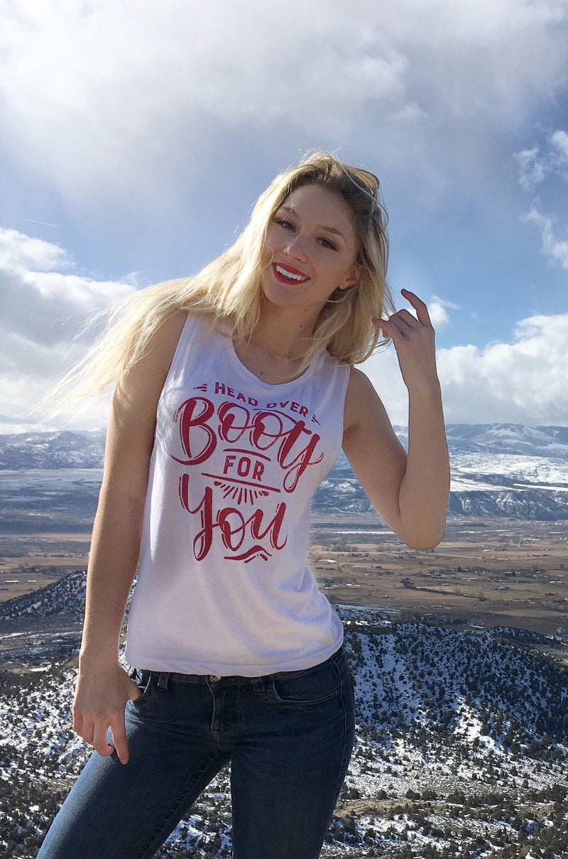 Head Over Boots for You | Flowy Muscle Tank