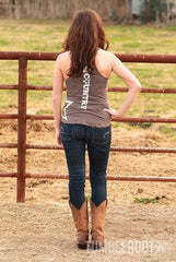 "Adorable ""Lil' Bit Country"" star tank top! The perfect country concert tank. Pairs well with a cold beer."