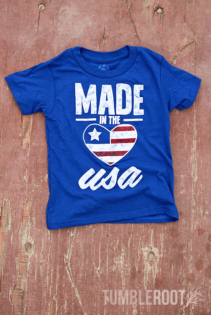 "Super adorable ""Made in the USA"" Tees for your little American Kiddo!"