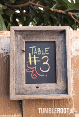 Adorable 5x7 barnwood chalkboard frame - perfect for wedding table numbers!