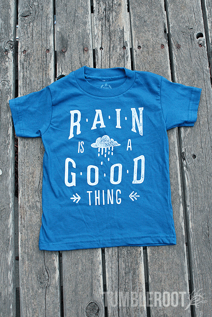 "Super adorable ""Rain is a Good Thing"" Tees for your little cowboy or cowgirl!"