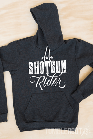 Super cute Shotgun Rider hoodie for the country girl!