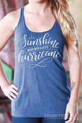 Sunshine Mixed with a Little Hurricane | Essential Racerback Tank