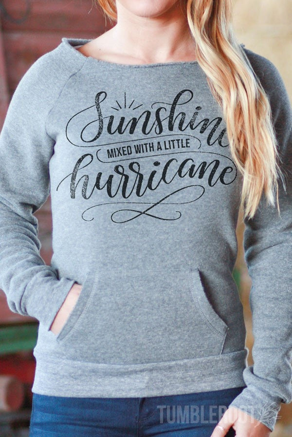 Sunshine Mixed with a Little Hurricane | Off-the-shoulder Sweatshirt