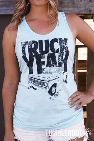 country lifestyle inspired Truck Yeah tank top - perfect for country concerts!