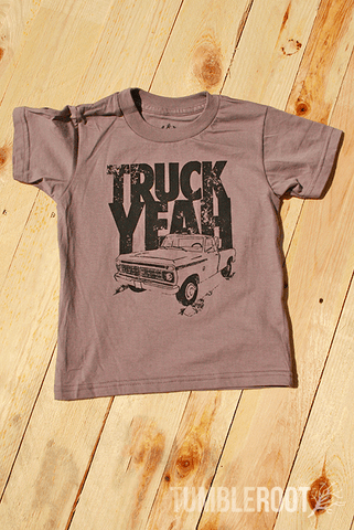 "Country kid toddler tee - ""Truck Yeah"" from TumbleRoot"