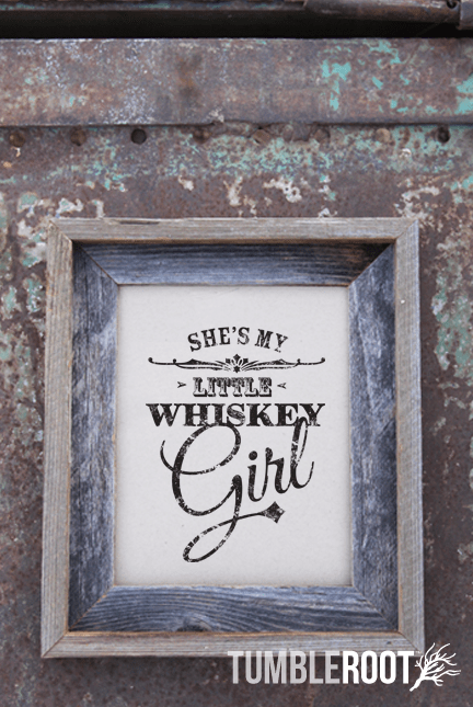 """She's my little whiskey girl"" country song print inspired by Toby Keith!""She's my little whiskey girl"" country print! Black Ink on Paper Bag."