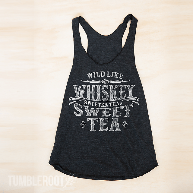 """Wild like Whiskey, Sweeter than Sweet Tea"" country cute racerback tank tops! Perfect for country music festivals!"