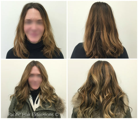 balayage hair extensions fine hair Vancouver